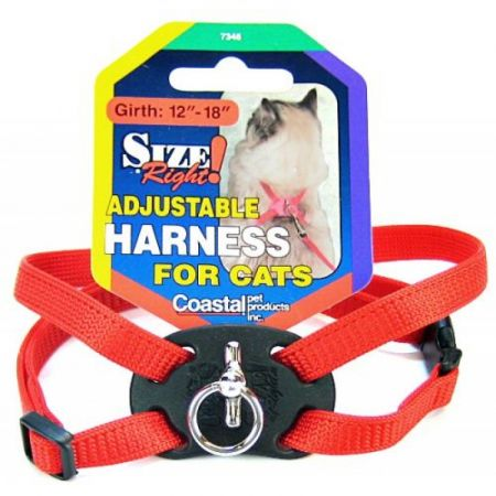 Coastal Pet Coastal Pet Size Right Nylon Adjustable Cat Harness - Red