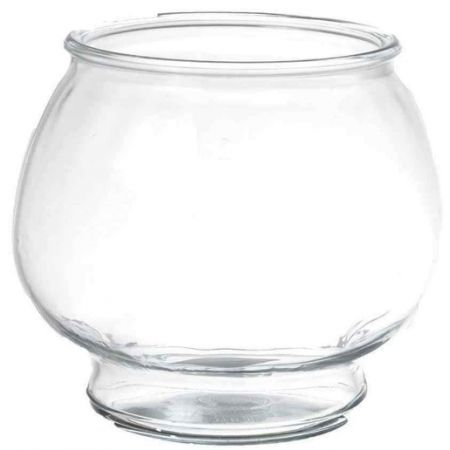 Anchor hocking anchor hocking footed fish bowl bowls glass for Glass fish bowls