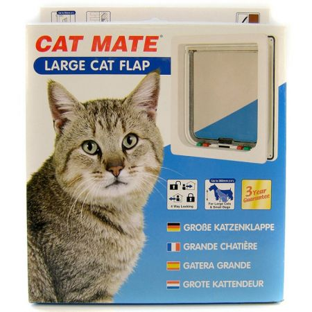 Cat Mate Cat Mate 4-Way Locking Self Lining Door-Large Cat Small Dog