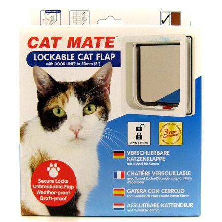 Cat Mate Cat Mate Self Lining Lockable Cat Door - White