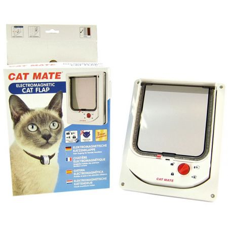 Cat Mate Cat Mate Electromagnetic Cat Flap - White