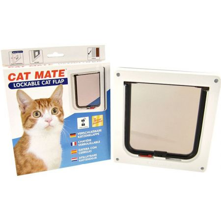 Cat Mate Cat Mate Lockable Cat Flap - White