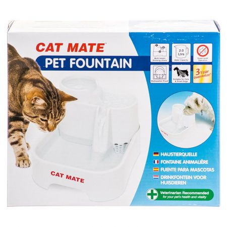 Cat Mate Cat Mate Pet Fountain - White