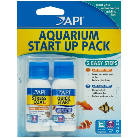 Api api aquarium start up pack water conditioners for How to make tap water safe for fish without conditioner