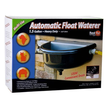 Real Pet International RPI Tough Guy Heavy Duty Automatic Float Watering Bowl