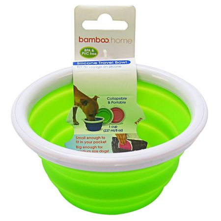 Bamboo Bamboo Silicone Travel Bowl - Assorted