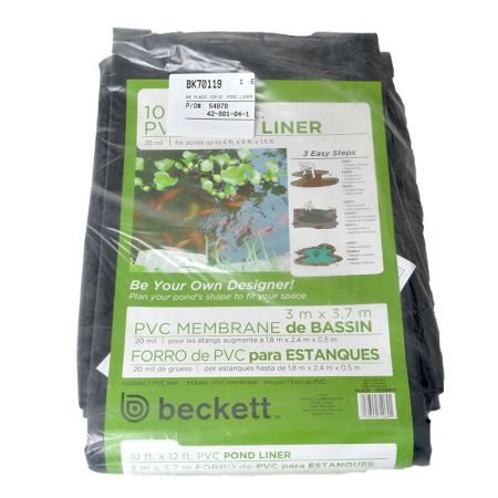 Beckett beckett pond liner pvc pre cut black pond liners for Make your own pond liner
