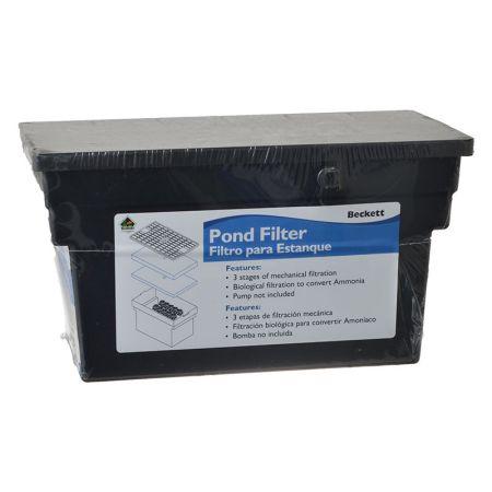 Beckett beckett bio filter box without pump filters for Pond bio filter