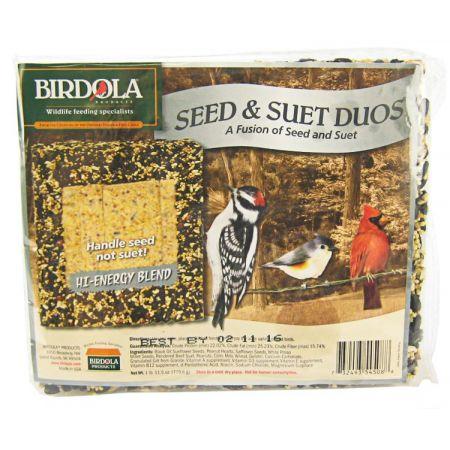 Birdola Birdola Hi-Energy Blend Seed Cake & Suet Duo
