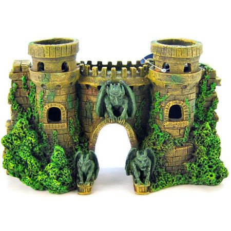 Blue Ribbon Pet Products Blue Ribbon Castle Fortress with Gargoyle Ornament