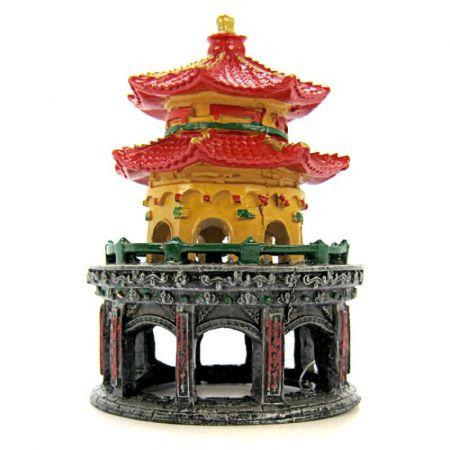 Blue Ribbon Pet Products Blue Ribbon Resin Ornament Pagoda Pavillion of South China