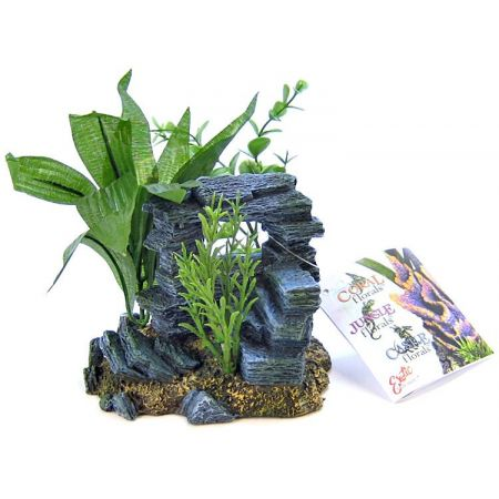 Blue Ribbon Pet Products Blue Ribbon Rock Arch with Plants Ornament