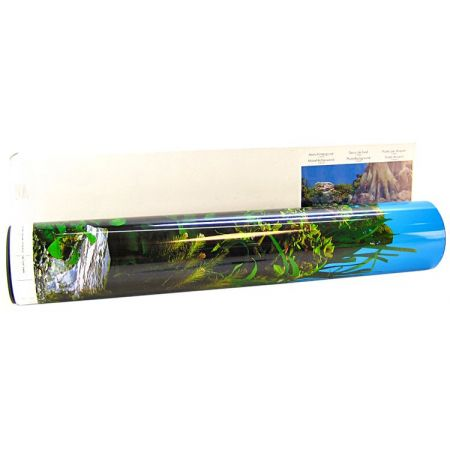 Blue Ribbon Pet Products Blue Ribbon Freshwater Rock & Tree Trunks Double Sided Aquarium Background