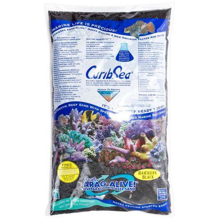 Caribsea CaribSea Arag-Alive Live Aragonite Reef Sand - Hawaiian Black
