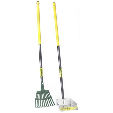 Flexrake Flexrake The Scoop - Poop Scoop & Steel Rake with  Wood Handle