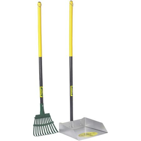 Flexrake Flexrake Scoop & Rake with Wood Handle