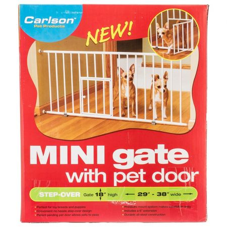 carlson pet gates carlson pet gates mini pet gate with pet door step over - Carlson Pet Products