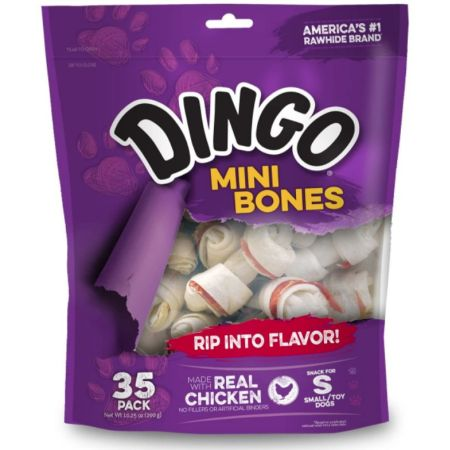 Dingo Dingo Meat in the Middle Rawhide Chew Bones