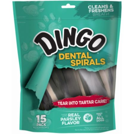 Dingo Dental Spirals Fresh Breath Dog Treats alternate view 3