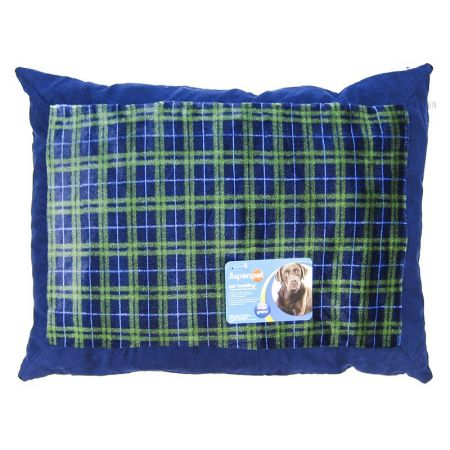 Aspen Pet Aspen Pet Plaid Pillow Bed - Assorted Colors