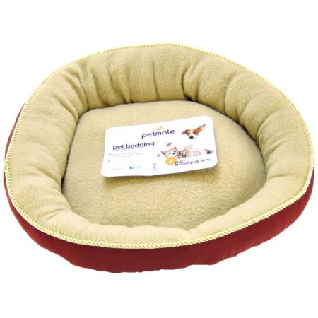 Petmate Petmate Round Pet Bed with Elliptical Bolster