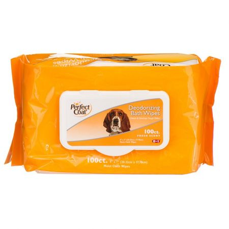 Perfect Coat Perfect Coat Deodorizing Bath Wipes for Dogs