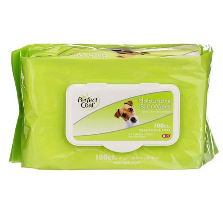 Perfect Coat Perfect Coat Moisturizing Bath Wipes for Dogs