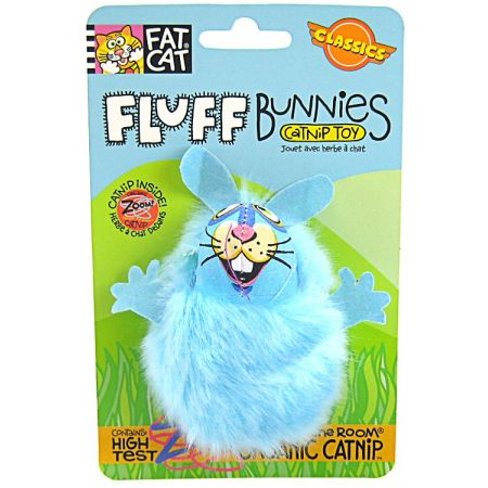 Fat Cat Fat Cat Fluff Bunnies Cat Toy - Assorted