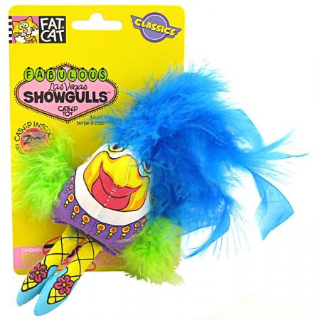 Fat Cat Fat Cat Showgulls Catnip Feather Toy - Assorted