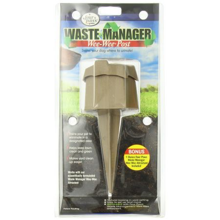 Four Paws Four Paws Wee Wee Post Waste Manager with Attractant