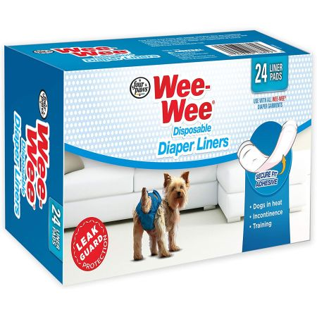 Four Paws Four Paws Wee Wee Diaper Garment Pads