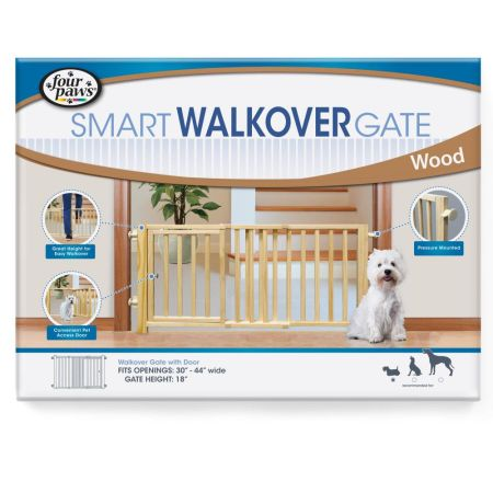 Four Paws Four Paws Walk Over Wood Safety Gate with Door