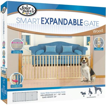 Four Paws Four Paws Extra Wide Wood Safety Gate
