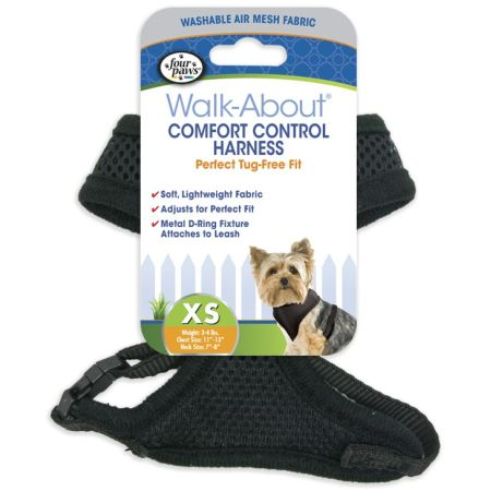 Four Paws Four Paws Comfort Control Harness - Black