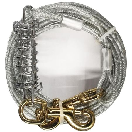 Four Paws Dog Tie Out Cable - Heavy Weight - Black alternate view 4