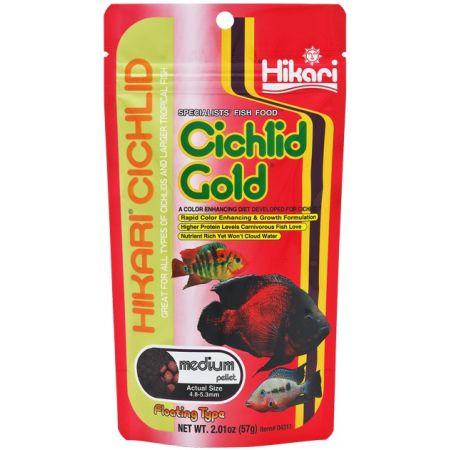 Hikari Cichlid Gold Color Enhancing Fish Food - Medium Pellet