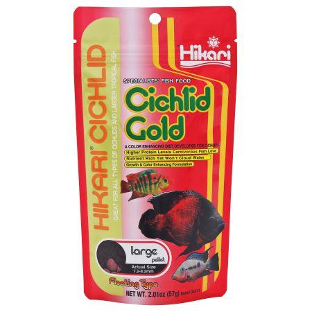 Hikari Cichlid Gold Color Enhancing Fish Food - Large Pellet