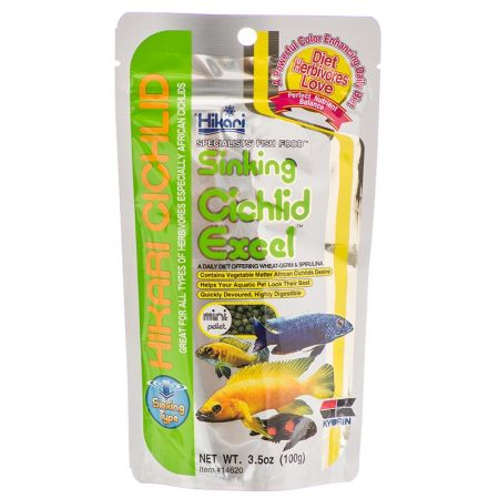 Hikari hikari cichlid excel sinking fish food mini for Hikari fish food