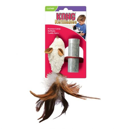 Kong Kong Feather Mouse Cat Toy with Catnip