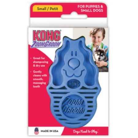 Kong Kong ZoomGroom Dog Brush - Raspberry