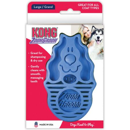 Kong ZoomGroom Dog Brush - Boysenberry alternate view 1