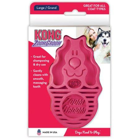 Kong ZoomGroom Dog Brush - Raspberry