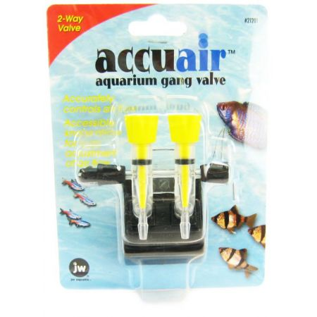 JW Pet JW Fusion Accuair 2 Way Aquarium Gang Valve