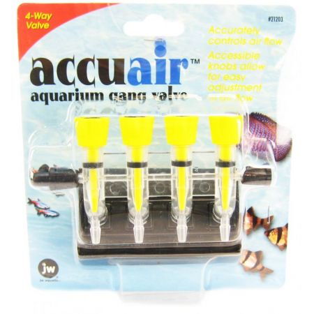 JW Pet JW Fusion Accuair 4 Way Aquarium Gang Valve
