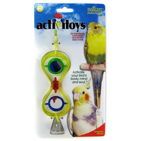 JW Pet JW Insight Hour Glass Mirrors Bird Toy
