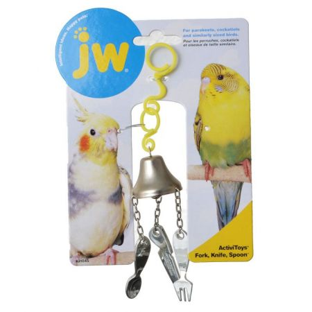 JW Pet JW Insight Fork, Knife & Spoon Bird Toy