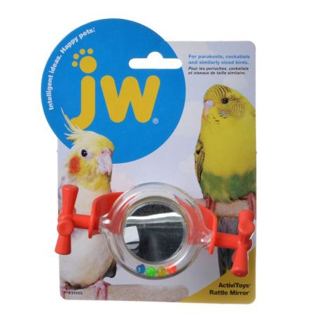 JW Pet JW Insight Rattle Mirror Bird Toy