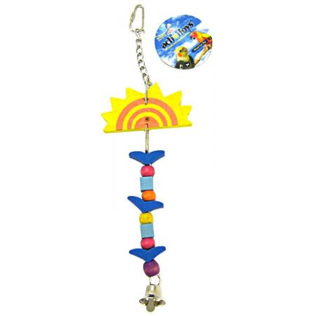 JW Pet JW Insight Single Sun Wooden Bird Toy (Large Birds)