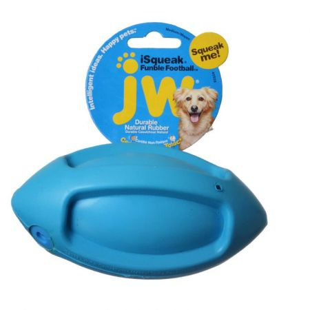 JW Pet JW Pet iSqueak Funble Football Rubber Dog Toy