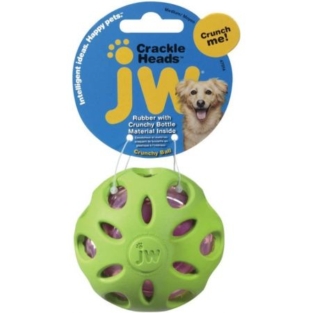 Jw Pet Jw Pet Crackle Heads Ball Dog Chew Toy Assorted